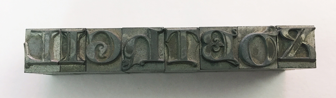 Found in The Lightbox Archives: Cast Metal Printing Blocks