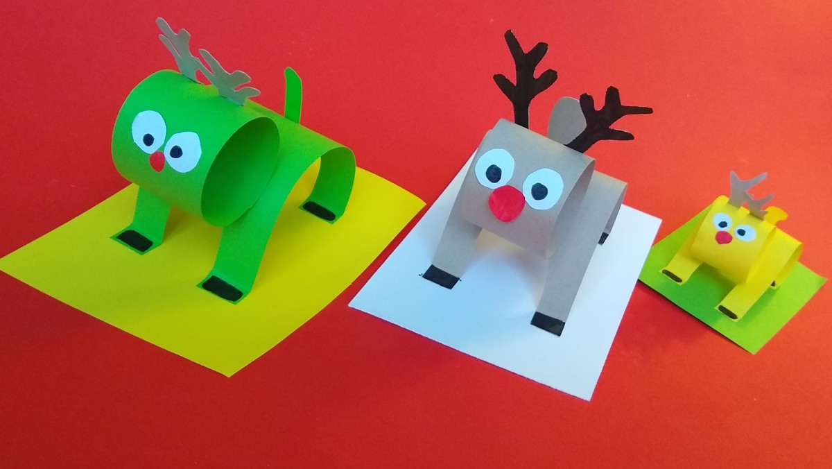 Create At Home: 3D Reindeer
